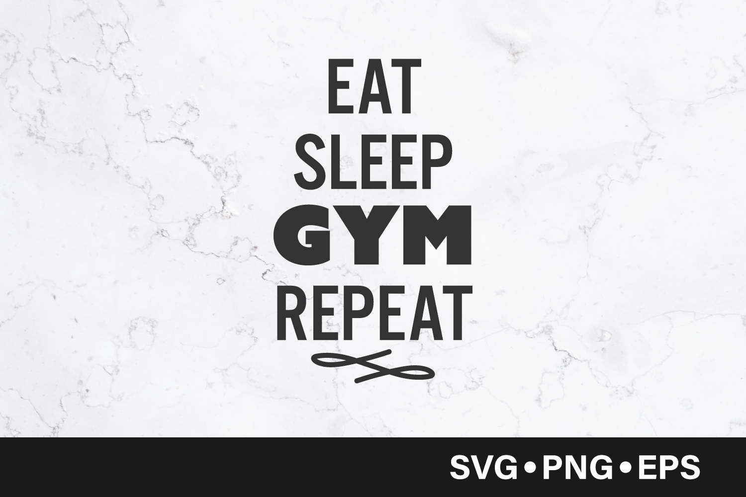 Download Free Eat Sleep Gym Repeat Quote Graphic By Vectorbundles Creative for Cricut Explore, Silhouette and other cutting machines.