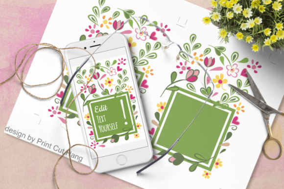 Editable Text Greeting Cards Templates Graphic By Print Cut Hang