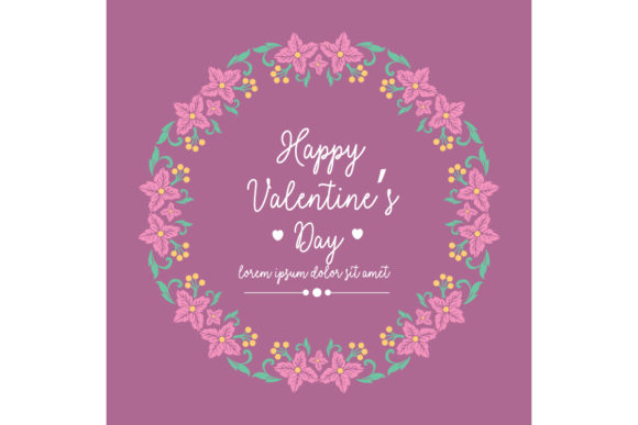 Elegant Happy Valentine Greeting Card Graphic By Stockfloral