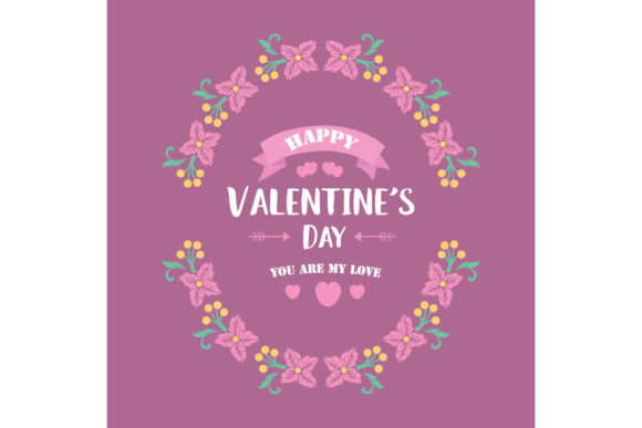 Download Free Elegant Happy Valentine Poster Design Graphic By Stockfloral for Cricut Explore, Silhouette and other cutting machines.