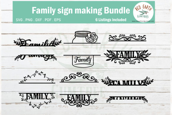 Download Free Family Monogram Sign Making Design Graphic By Redearth And for Cricut Explore, Silhouette and other cutting machines.