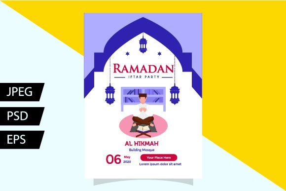 Download Free Flyer Ramadan Templates I Iv Graphic By Griyolabs Creative Fabrica for Cricut Explore, Silhouette and other cutting machines.