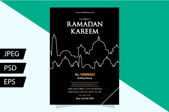 Download Free Flyer Ramadan Templates Ii Graphic By Griyolabs Creative Fabrica for Cricut Explore, Silhouette and other cutting machines.