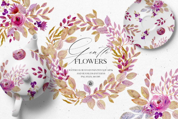 Gentle Flowers Graphic Illustrations By webvilla