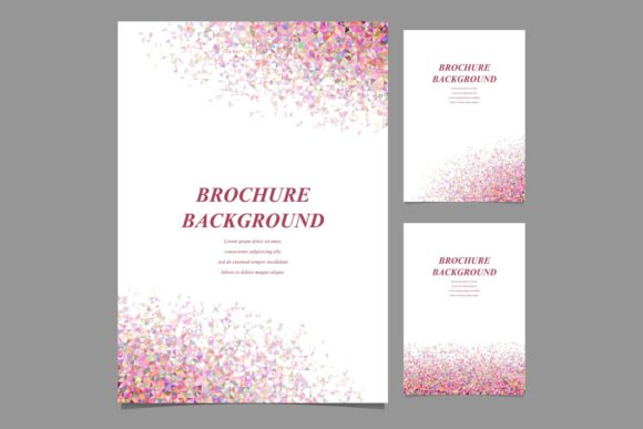 Geometric Brochure Backgrounds Graphic Print Templates By davidzydd