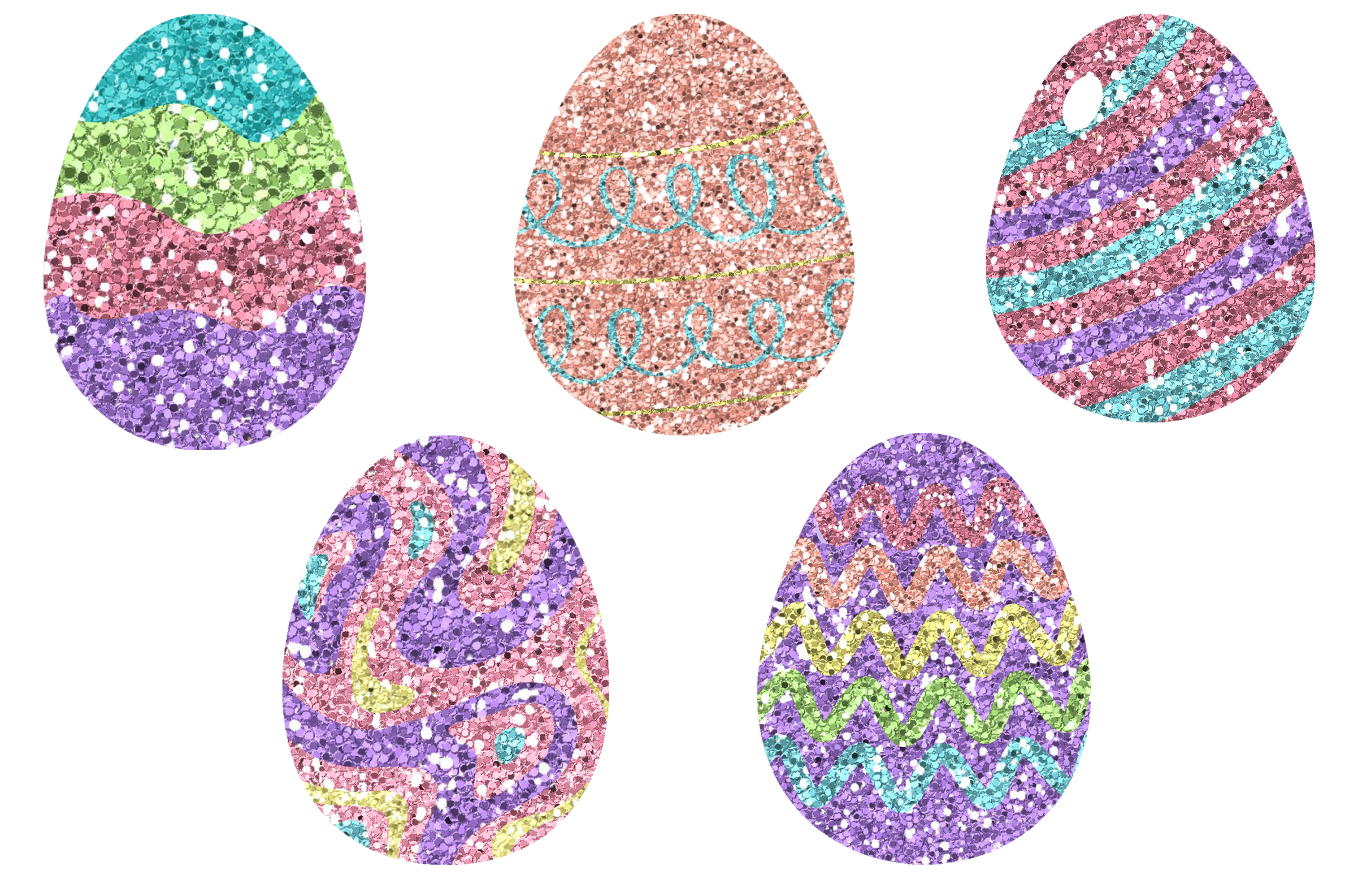 Glitter Easter Egg Clipart or Stickers Graphics 3650249 1