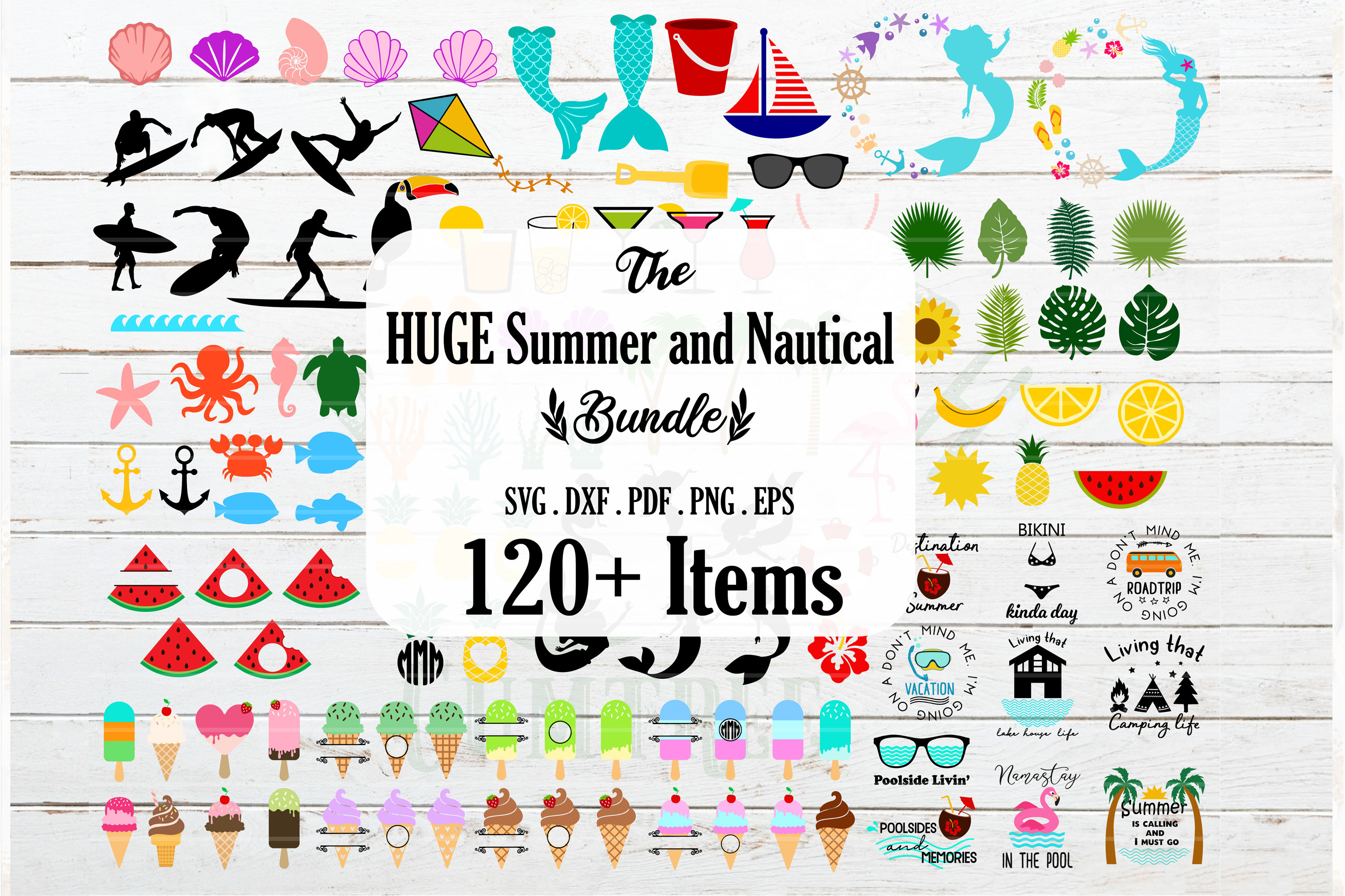 Huge Summer Tropical And Nautical Bundle Graphic By Redearth And