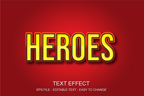 Download Free Heroes Editable Text Effect Style Graphic By Ve Art09 Creative for Cricut Explore, Silhouette and other cutting machines.