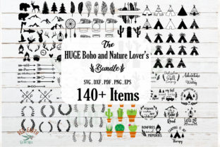 Huge Camping,Boho and Nature Bundle  Graphic Crafts By redearth and gumtrees