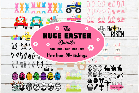 Download Free Huge Easter Bundle Easter Bunny Graphic By Redearth And Gumtrees SVG Cut Files