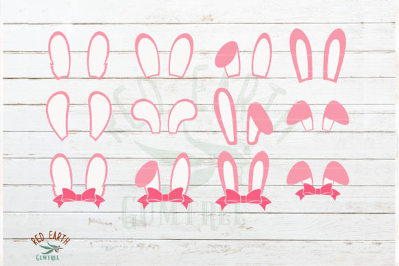 Download Free Huge Easter Bundle Easter Bunny Graphic By Redearth And Gumtrees for Cricut Explore, Silhouette and other cutting machines.