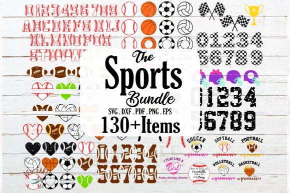 Download Free Huge Sports Hobby And Racing Bundle Grafico Por Redearth And for Cricut Explore, Silhouette and other cutting machines.