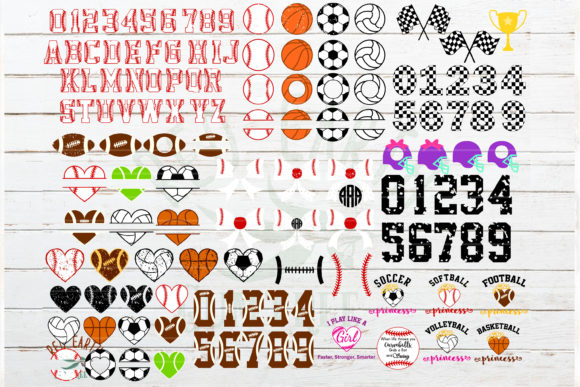 Download Free Huge Sports Hobby And Racing Bundle Graphic By Redearth And for Cricut Explore, Silhouette and other cutting machines.