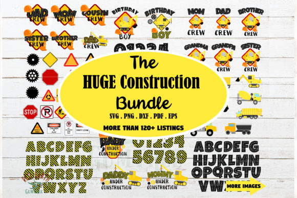 Huge Construction Theme Bundle  Graphic Crafts By redearth and gumtrees