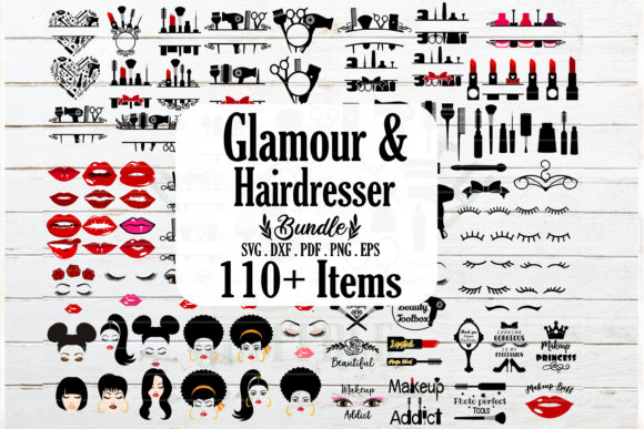 Huge Makeup and Glamour Bundle  Graphic Crafts By redearth and gumtrees