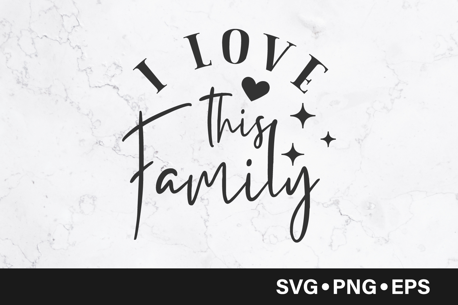 Download Free I Love This Family Quote Graphic By Vectorbundles Creative Fabrica for Cricut Explore, Silhouette and other cutting machines.