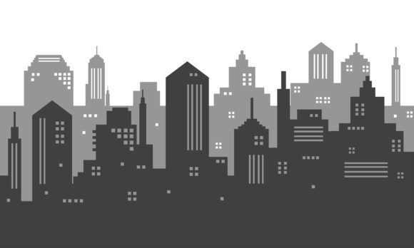 Download Free Illustration Of A City With Silhouette Graphic By Cityvector91 for Cricut Explore, Silhouette and other cutting machines.