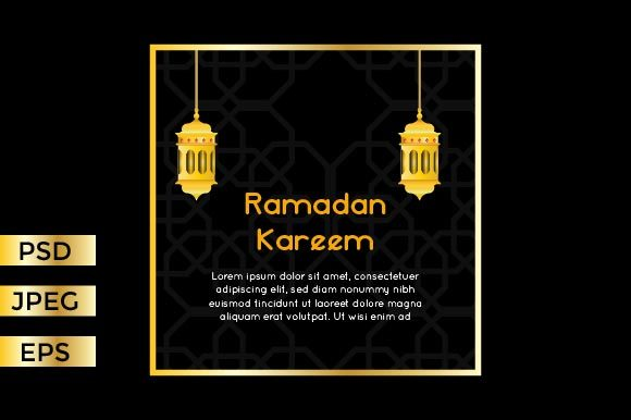 Download Free Greeting Card Ramadan Kareem Graphic By Griyolabs Creative Fabrica for Cricut Explore, Silhouette and other cutting machines.