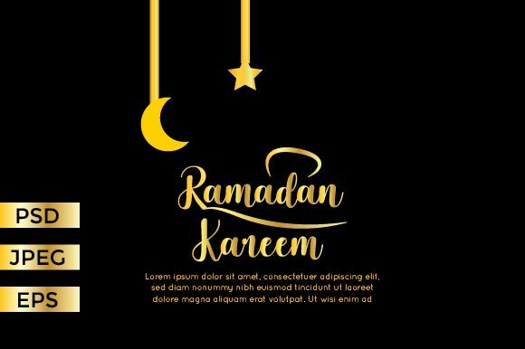 Download Free Ramadan Banner Graphic By Griyolabs Creative Fabrica for Cricut Explore, Silhouette and other cutting machines.