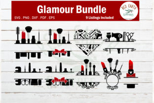 Makeup Glamour Monogram Frame Bundle  Graphic Crafts By redearth and gumtrees