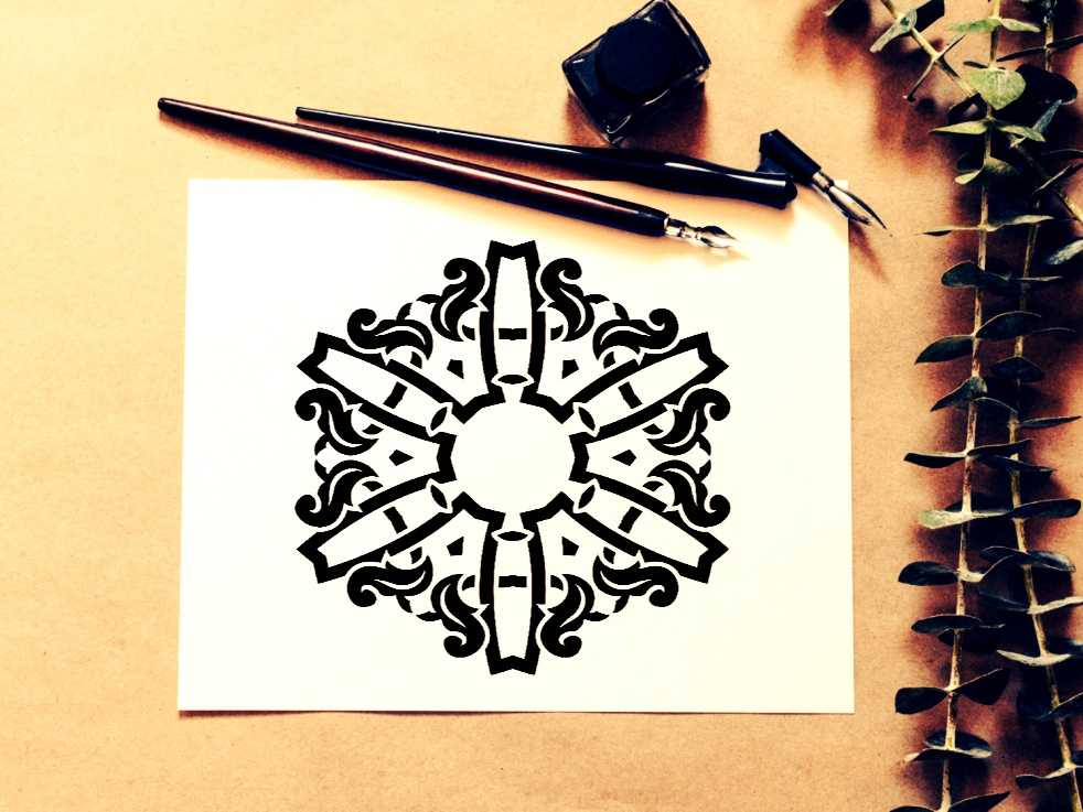 Download Free Mandala Design Vol 320 Graphic By Ermannofficial Creative Fabrica for Cricut Explore, Silhouette and other cutting machines.