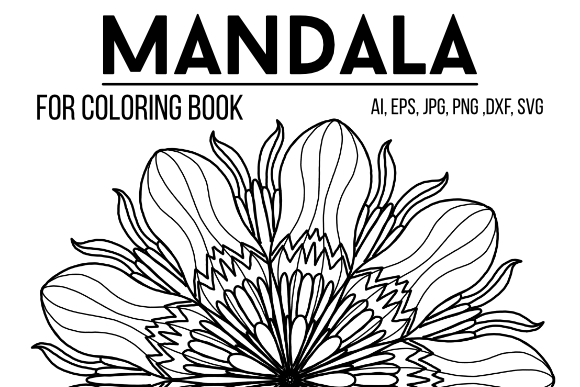 Download Free Mandala For Coloring Book Graphic By Stanosh Creative Fabrica for Cricut Explore, Silhouette and other cutting machines.