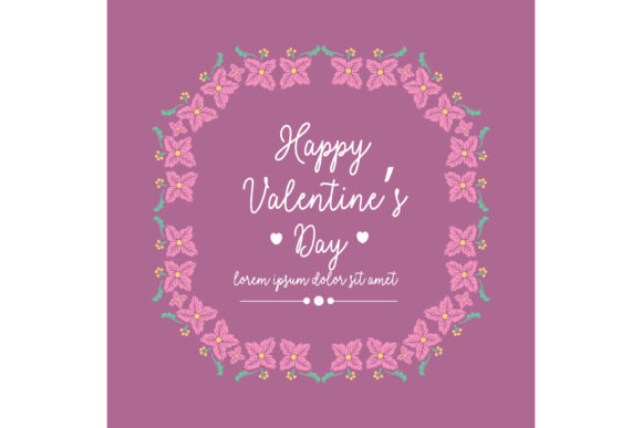 Modern Frame For Happy Valentine Poster Graphic By Stockfloral