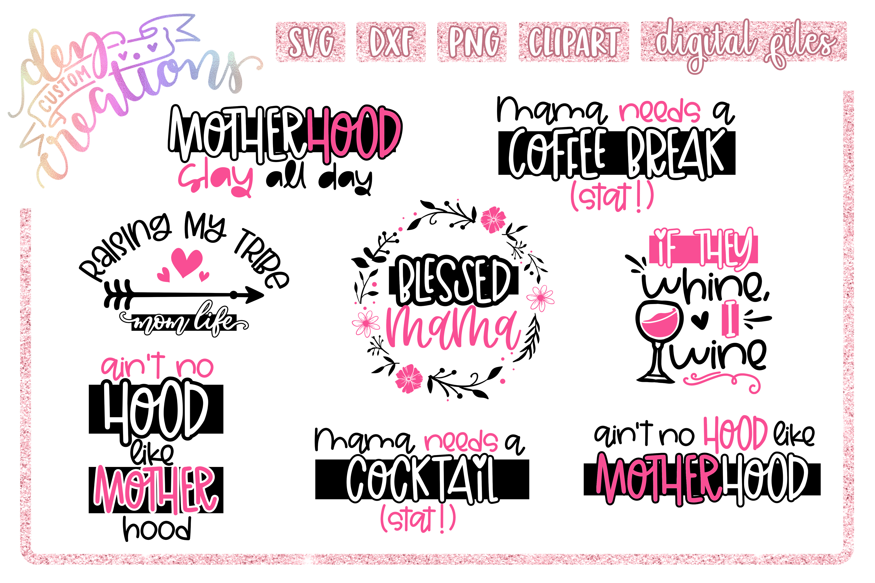 Mom Life Bundle Crafting Graphic By Dez Custom Creations