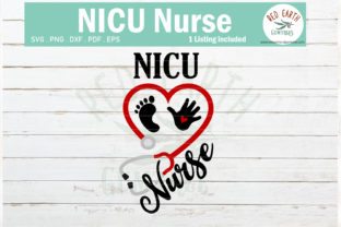 Nicu Nurse Heart Stethoscope Baby Graphic Crafts By redearth and gumtrees