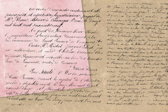 Print on Demand: Old Handwriting Overlays Graphic Textures By Digital Curio - Image 2