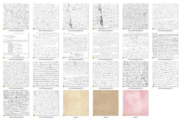 Print on Demand: Old Handwriting Overlays Graphic Textures By Digital Curio - Image 3