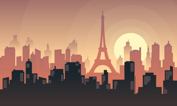 Download Free Paris City Vector In The Evening Graphic By Cityvector91 for Cricut Explore, Silhouette and other cutting machines.