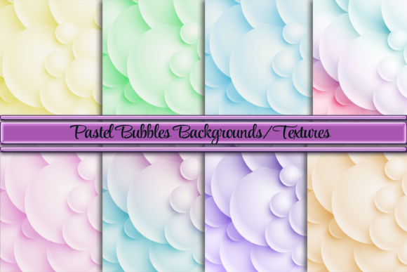Pastel Ombre Bubble Background/Textures Graphic Backgrounds By AM Digital Designs
