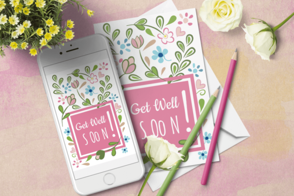Download Free Pink Floral Birthday Card Templates Graphic By Print Cut Hang for Cricut Explore, Silhouette and other cutting machines.