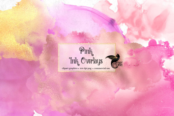 Print on Demand: Pink Ink Overlays Graphic Textures By Digital Curio