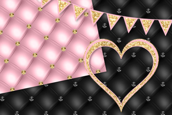 Download Free Pink And Gold Party Decorations Clipart Graphic By Digital Curio for Cricut Explore, Silhouette and other cutting machines.
