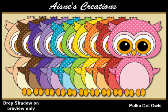Print on Demand: Polka Dot Owls Graphic Illustrations By Aisne
