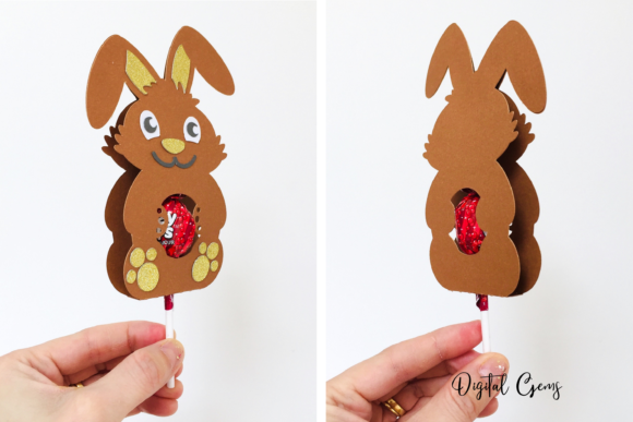 Rabbit Lollipop Holder Design Graphic 3D SVG By Digital Gems - Image 2