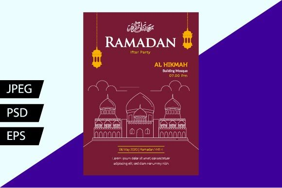 Download Free Ramadan Flyer Templates Ii Graphic By Griyolabs Creative Fabrica for Cricut Explore, Silhouette and other cutting machines.