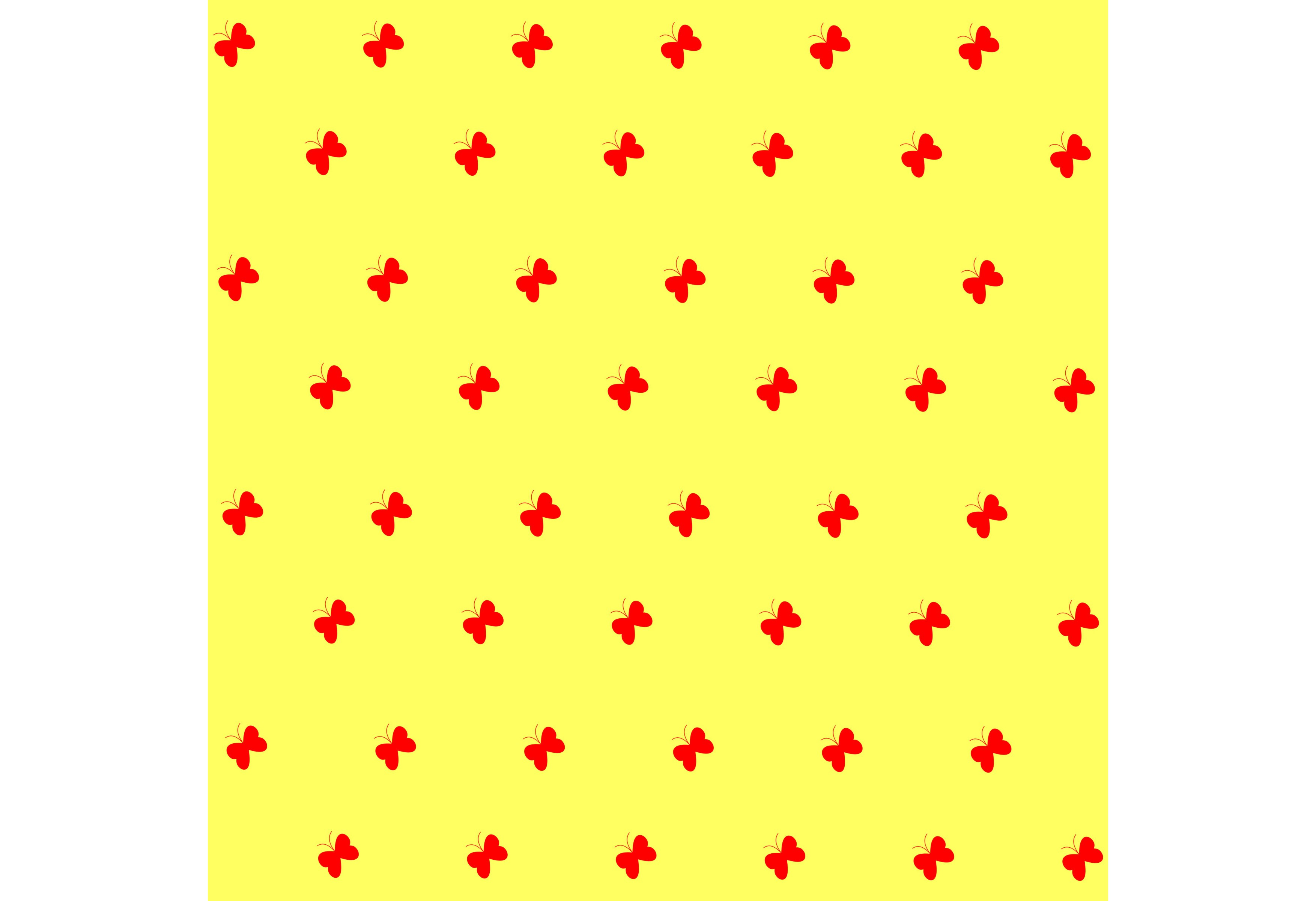 Download Free Red Butterflies Pattern Light Yellow Graphic By Designclusters for Cricut Explore, Silhouette and other cutting machines.