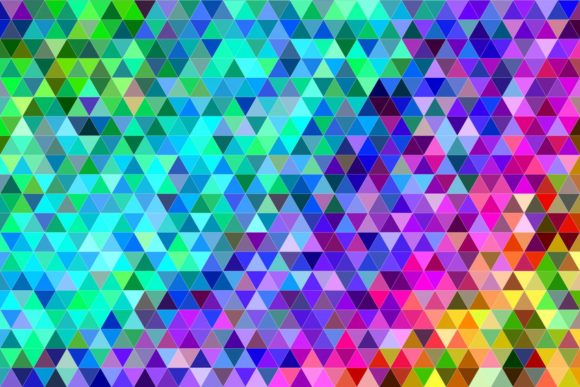 Regular Multicolor Triangle Background Graphic Backgrounds By davidzydd