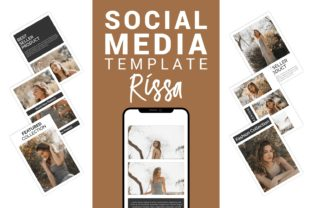 Rissa - Fashion Social Media Template Graphic Websites By Eight Template Studio
