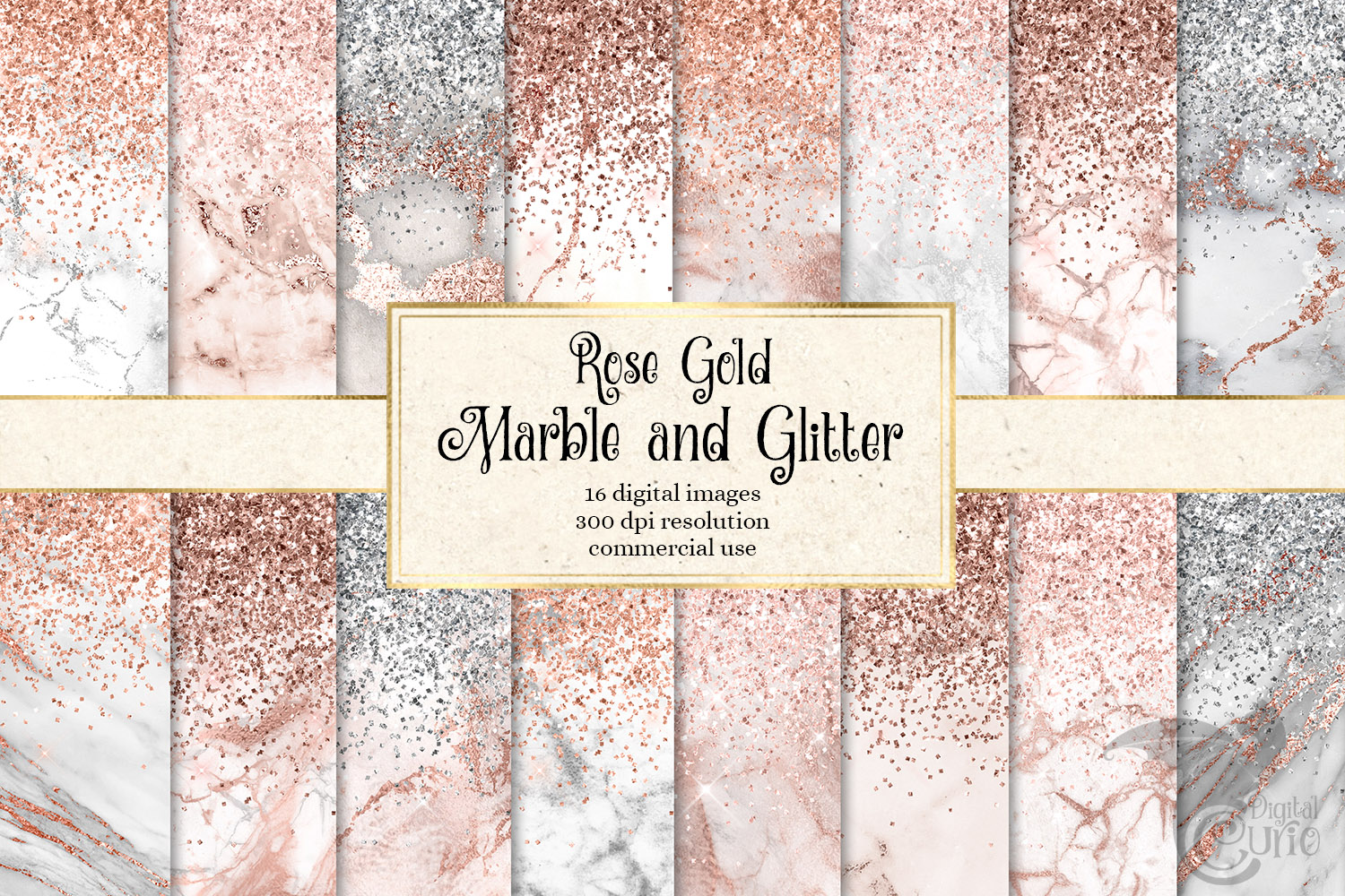Rose Gold Marble and Glitter Textures Graphics 3642766 1