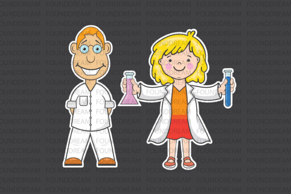 Download Free Science Laboratory Clip Art Graphic By Foundream Creative Fabrica for Cricut Explore, Silhouette and other cutting machines.