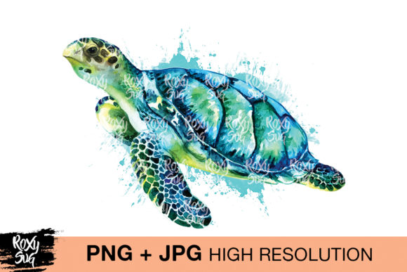 Print on Demand: Sea Turtle Clipart Graphic Crafts By roxysvg26