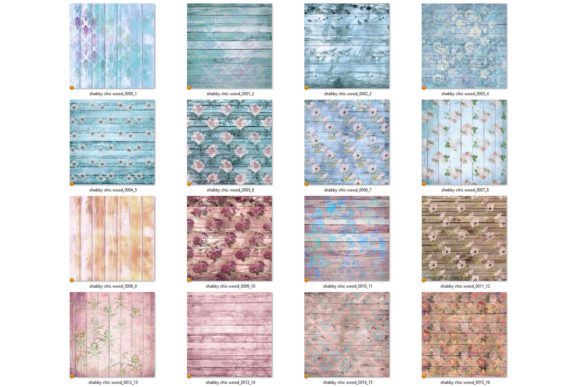Shabby Chic Wood Digital Paper Graphic Textures By Digital Curio - Image 4