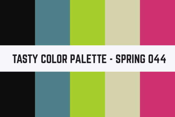 Print on Demand: Solids Tasty Color Palette - Spring 044 Graphic Textures By RefreshUp