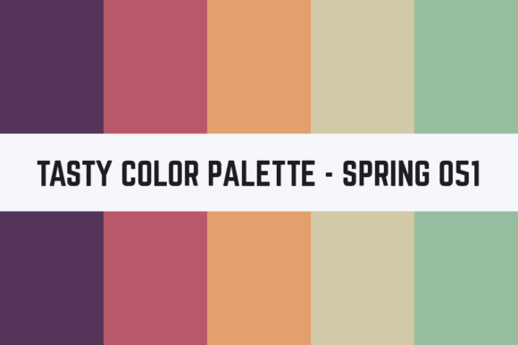 Print on Demand: Solids Tasty Color Palette - Spring 051 Graphic Textures By RefreshUp