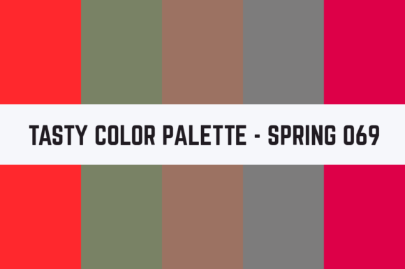Print on Demand: Solids Tasty Color Palette - Spring 069 Graphic Textures By TastyColorPalettes