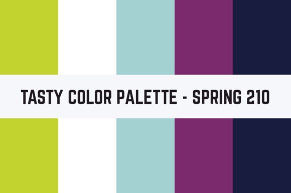 Print on Demand: Solids Tasty Color Palette - Spring 070 Graphic Textures By TastyColorPalettes
